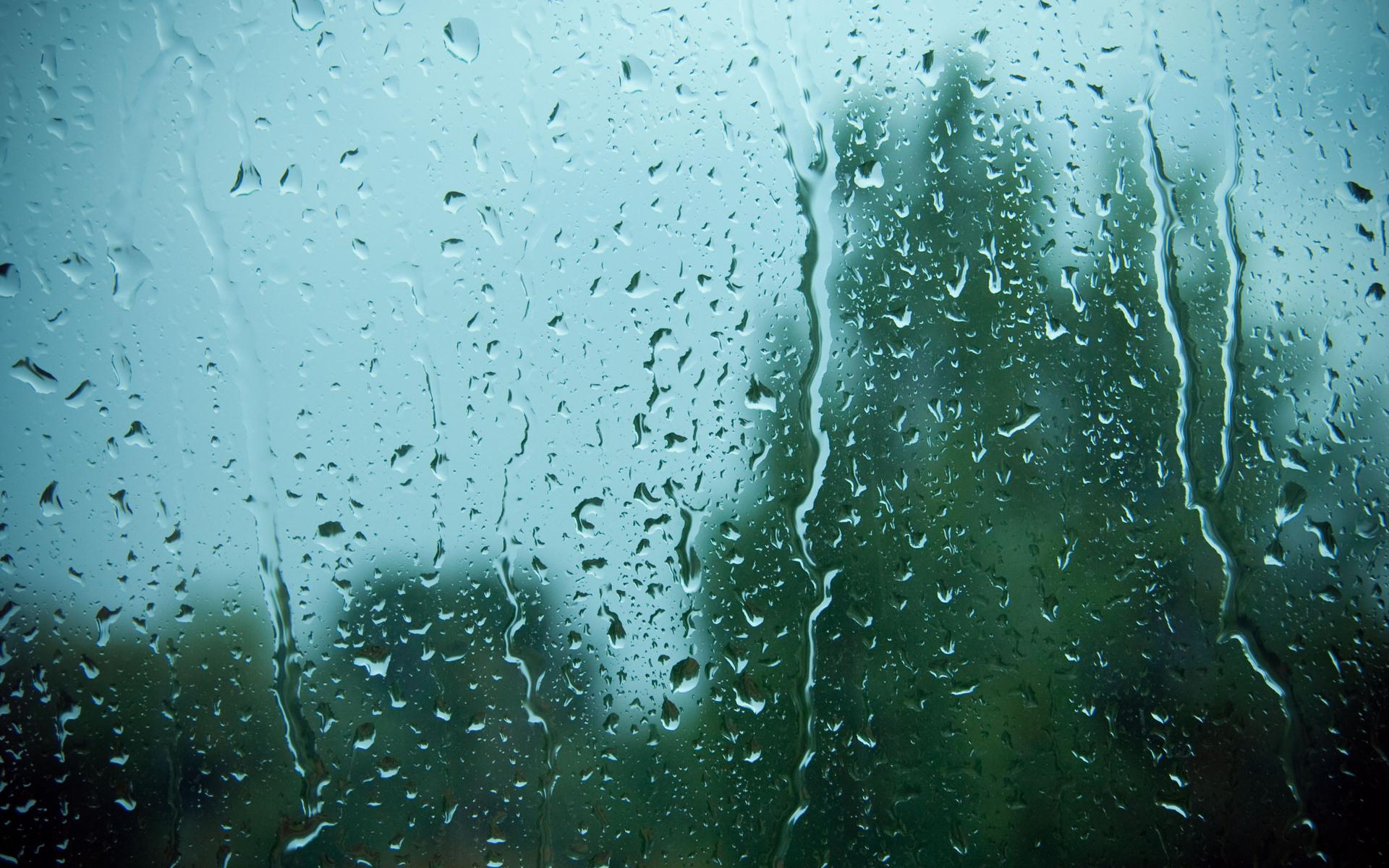 Rain On Window Wallpaper