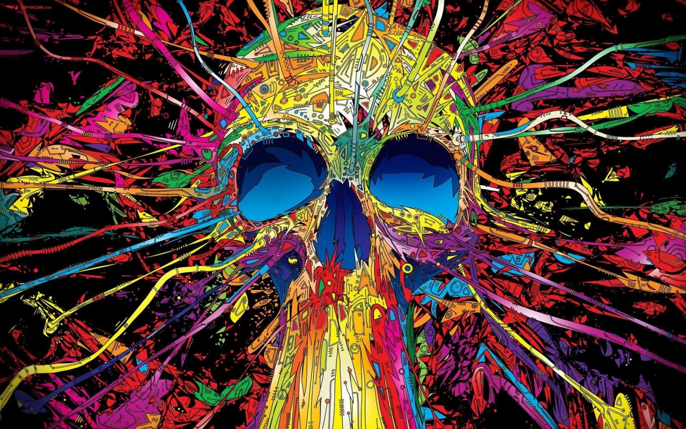 Sugar Skull Desktop Wallpaper Wallpapers Link 1368x855