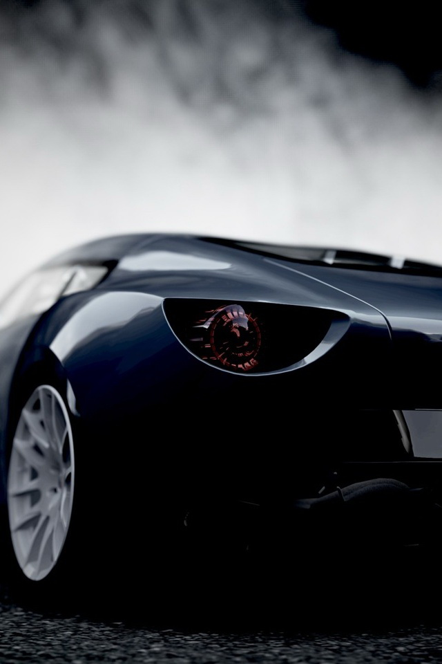 Sports Car Front View Wallpaper   iPhone Wallpapers 640x960
