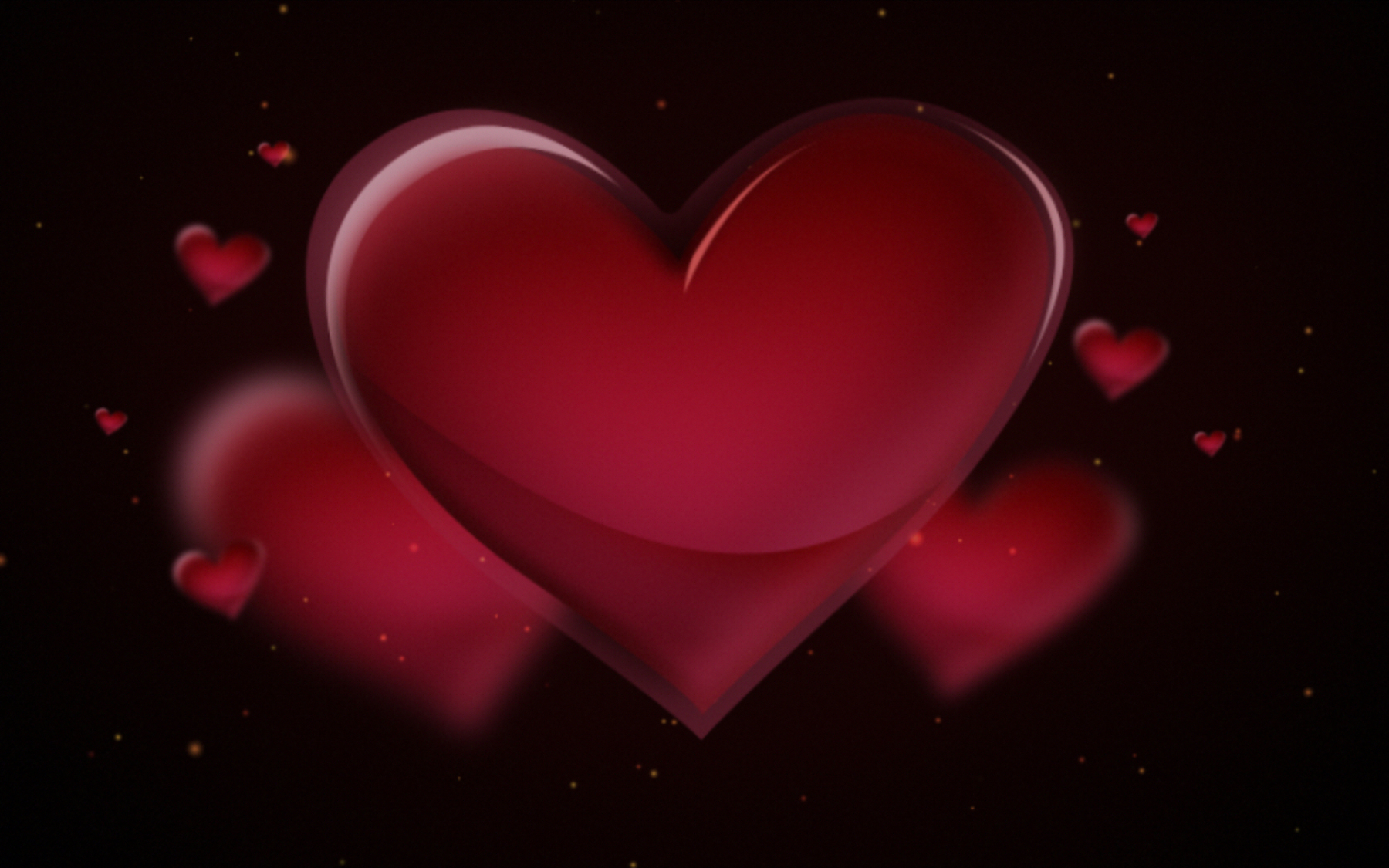 Heart In Love Wallpaper Hd: 3D Heart Wallpaper