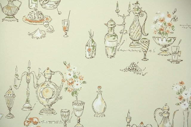 1950s Kitchen Vintage Wallpaper Hannahs Treasures Vintage 640x427