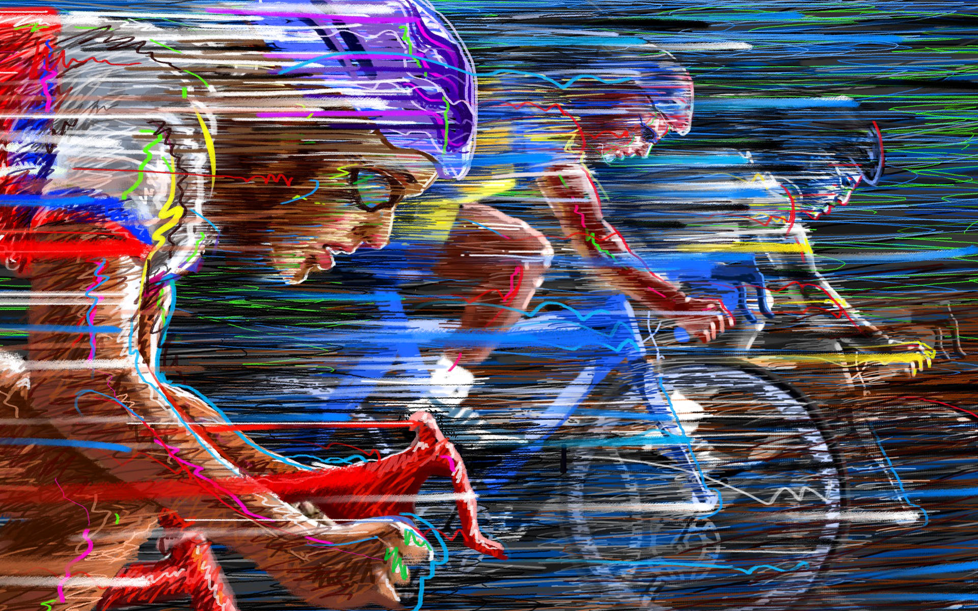 Wallpaper bike race speed color cycling vector wallpapers sports 1920x1200
