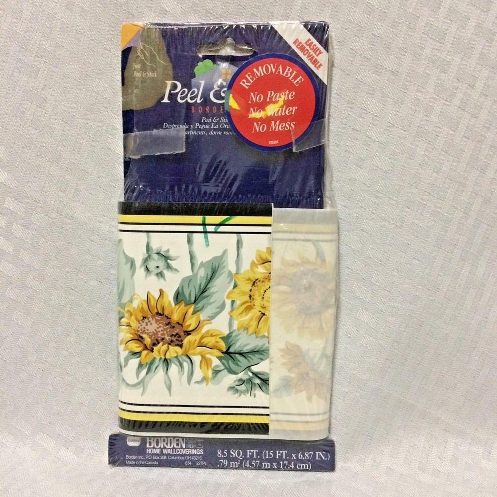 Sunflowers Borden Home Wallcovering 5 Yards Self Stick Wallpaper 1000x1000