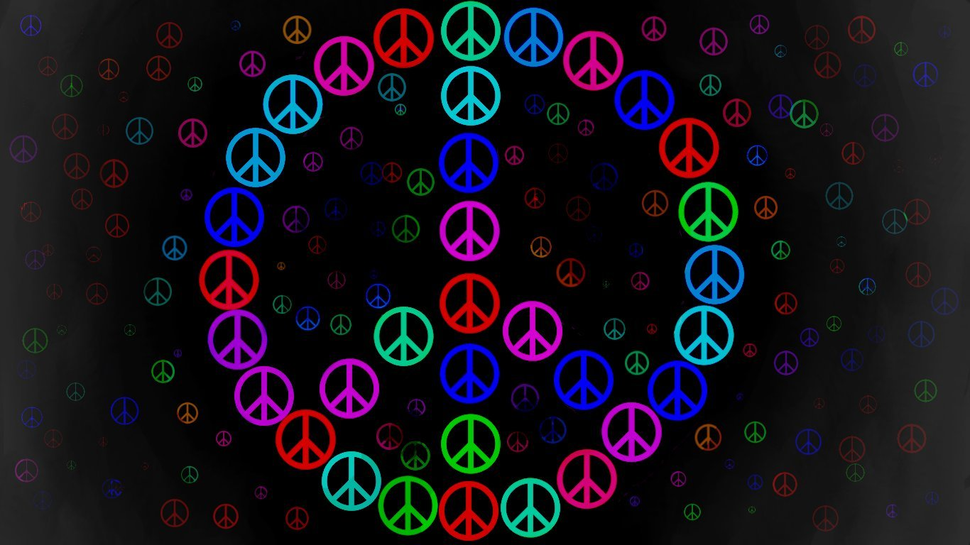 Home Other HD Wallpapers Peace Sign Wallpaper 1366x768