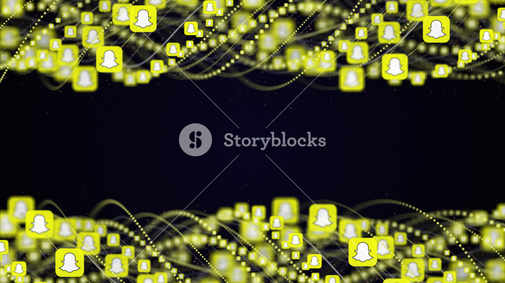 Snapchat Social Logo Background Royalty  Stock Image 1000x562