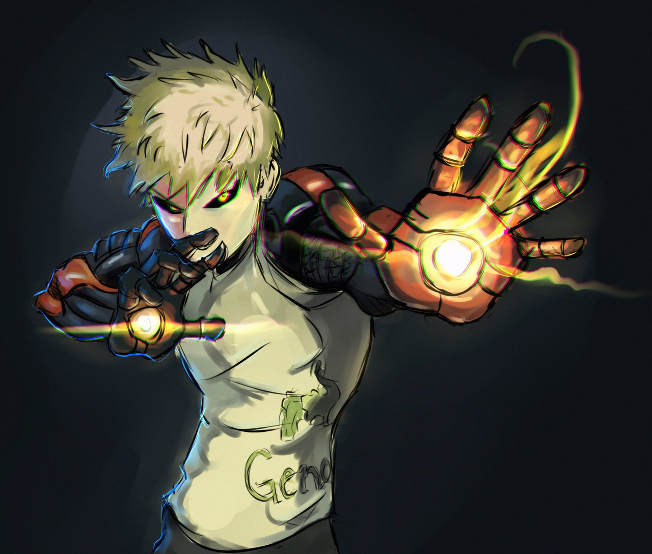 Free Download Genos Cyborg One Punch Man Wallpaper Hd Download Is