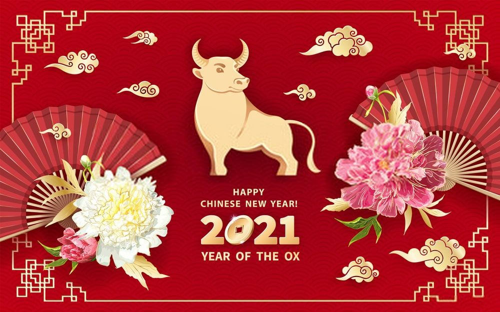 Chinese New Year 2021 Images and Wallpaper Chinese new year card 1000x625