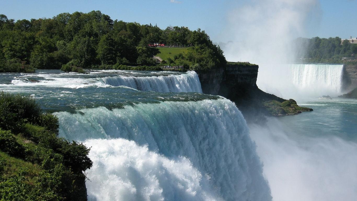 Niagara Falls desktop wallpaper Landscapes wallpapers 1366x768