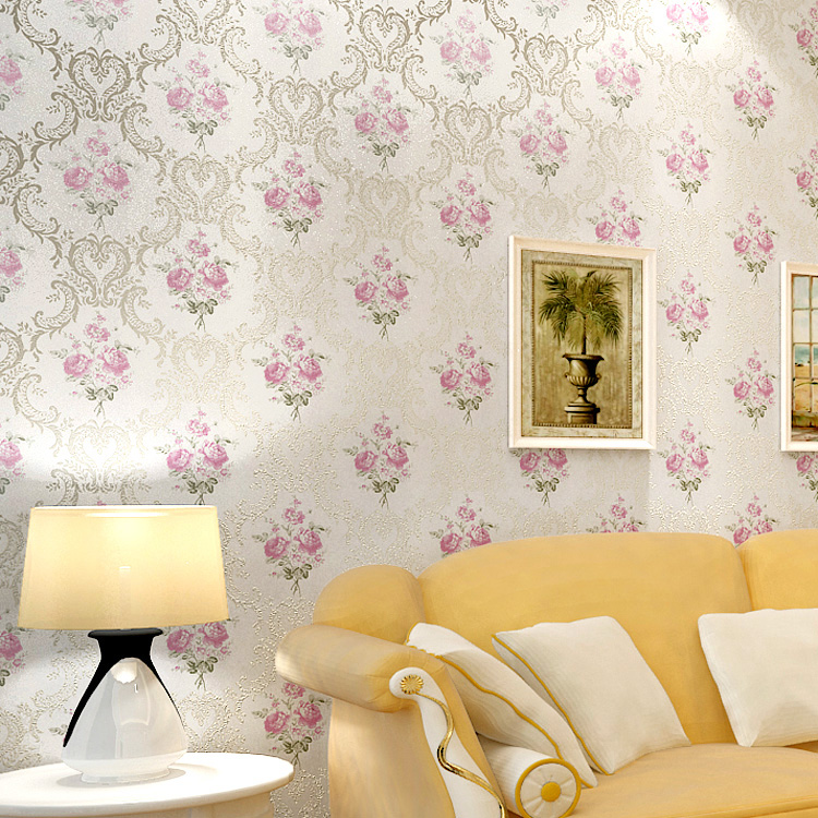 woven wallpaper rustic flower wallpaper tv background wall wallpaper 750x750