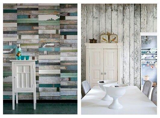 Faux wood wall paper Walls Pinterest 531x394