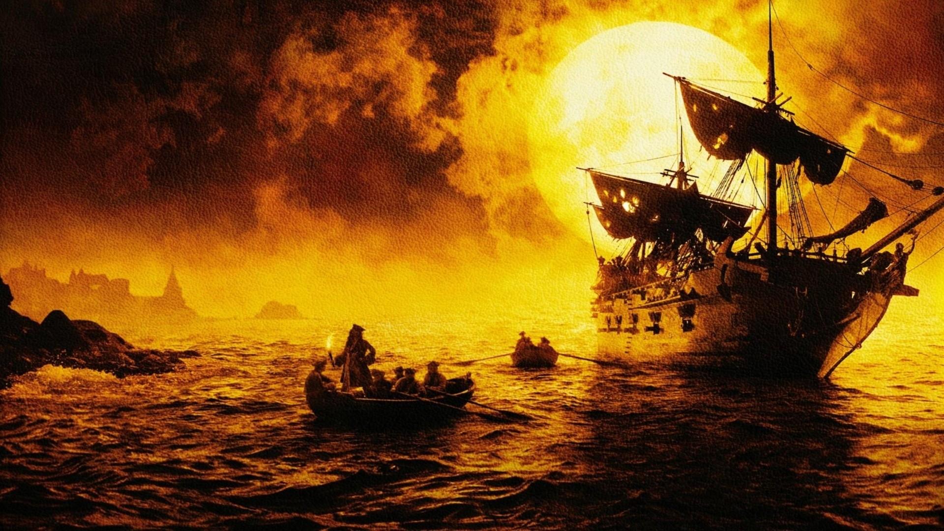 пираты карибского моря джек воробей море природа остров песок лодка вода  № 1386166 загрузить