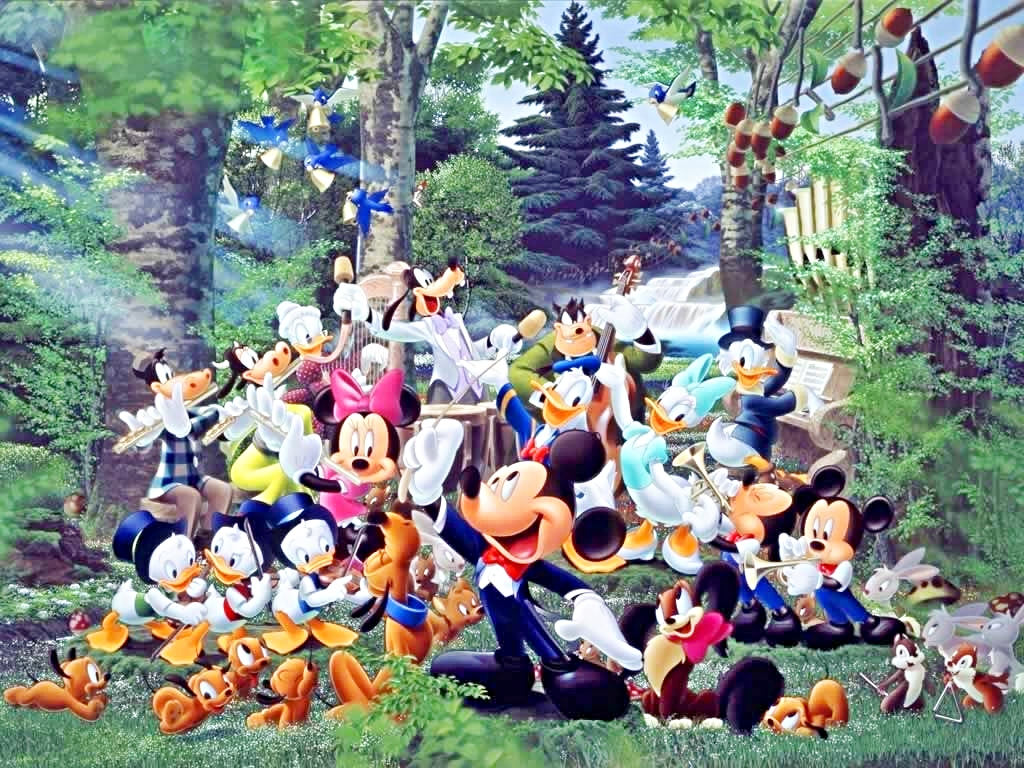 Walt Disney Wallpapers   The Magic of Music   Walt Disney Characters 1024x768
