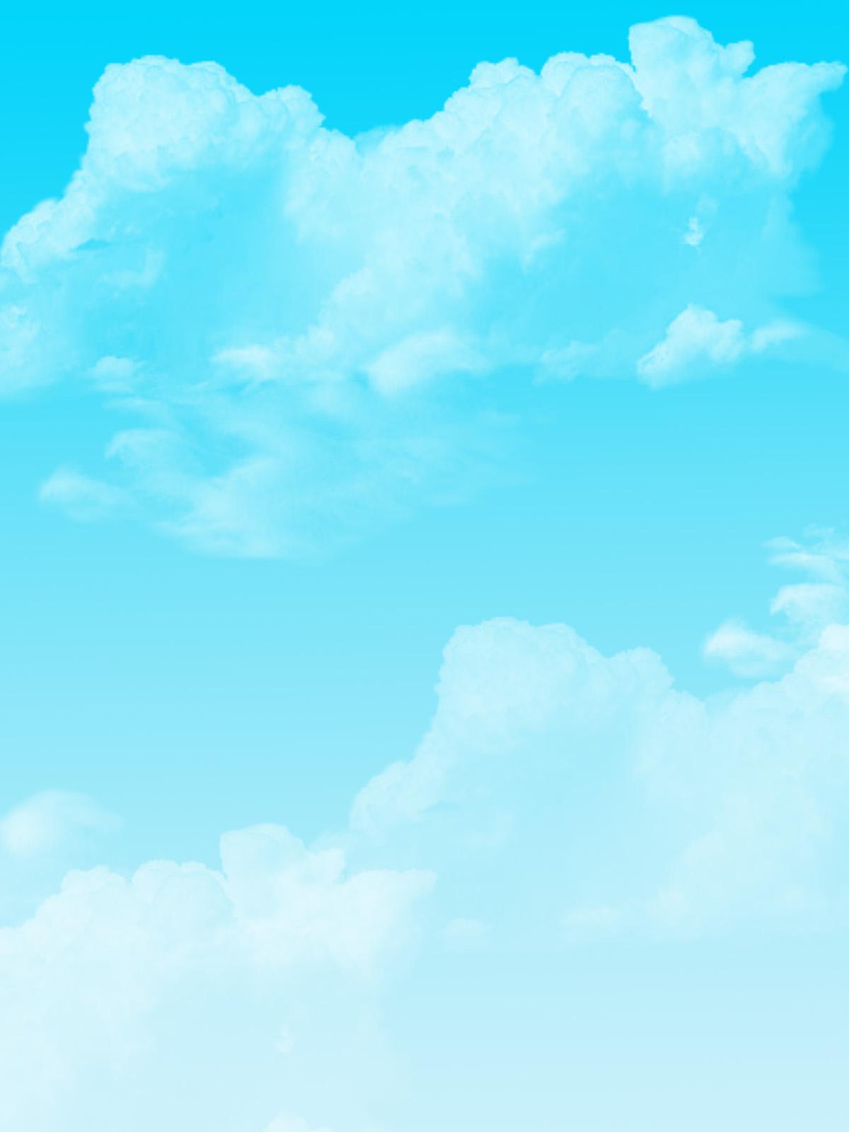 Simple Cloud Background by YuniNaoki 1200x1600