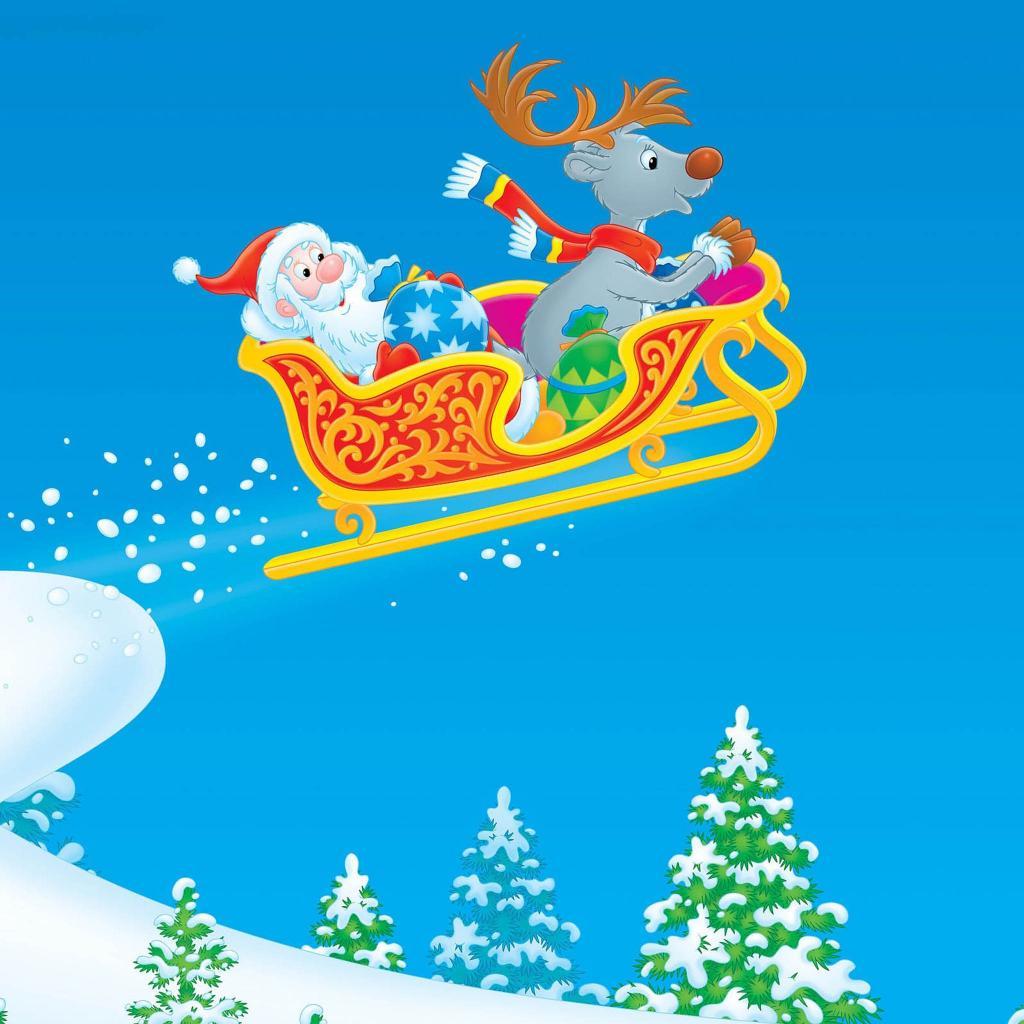 iPad Wallpapers Download Santa Claus iPad Wallpapers   Part II 1024x1024