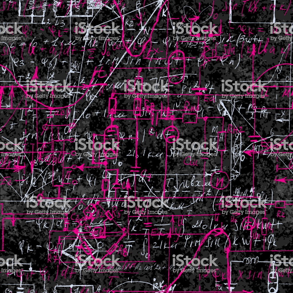 Scientific Seamless Background With Handwritten Mathematical And 1024x1024
