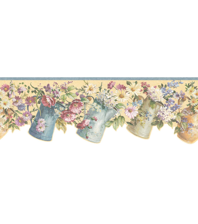 Floral Hook Wallpaper Border Multicolor Sample JOANN 1200x1360