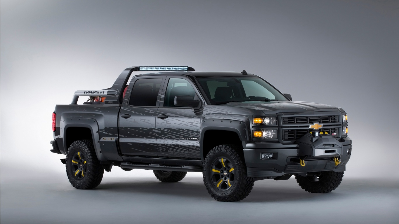 Chevrolet Silverado Black Ops Concept Wallpaper HD Car Wallpapers 1366x768