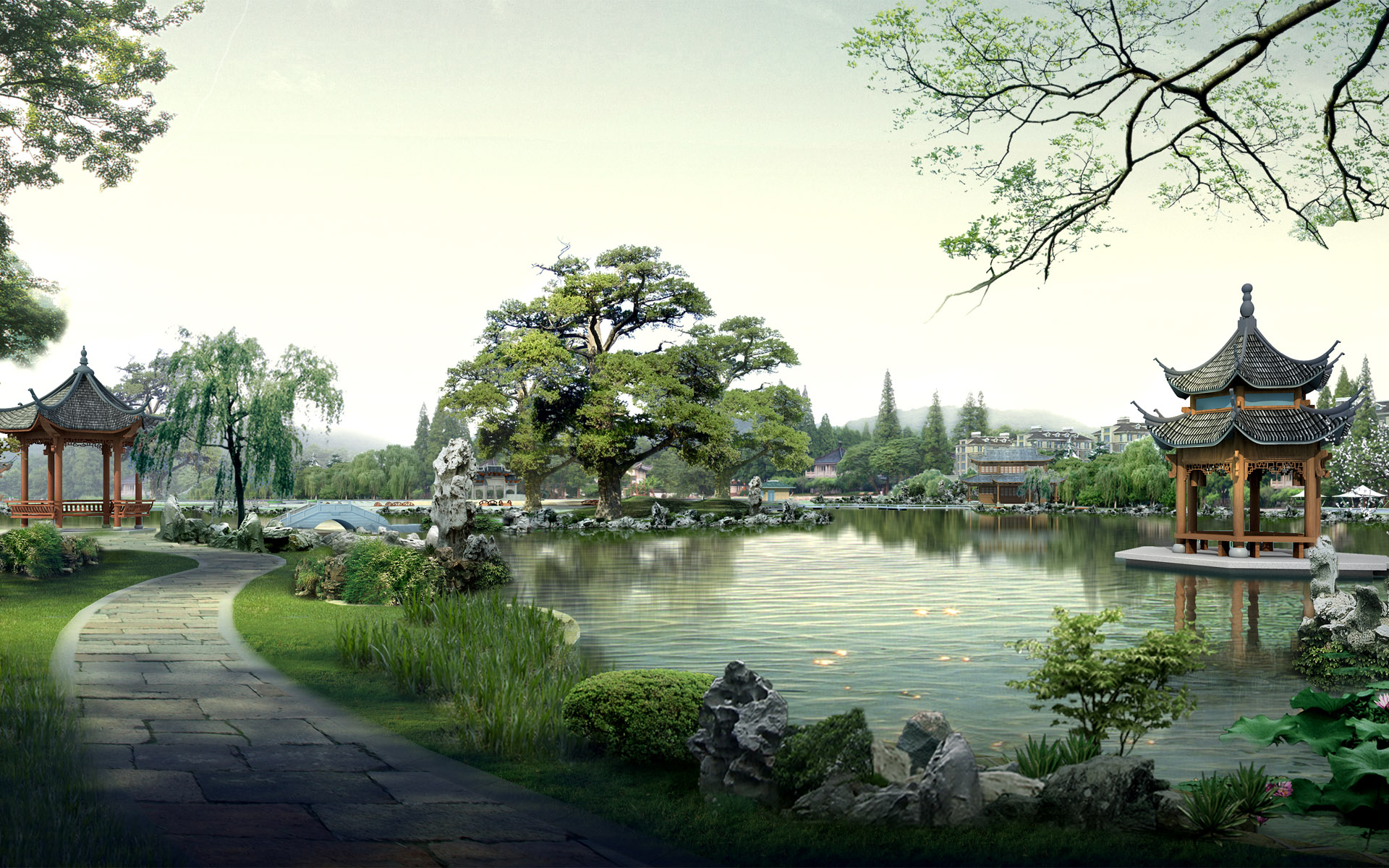 landscape digital japan china wallpaper wallpapers images 1920x1200