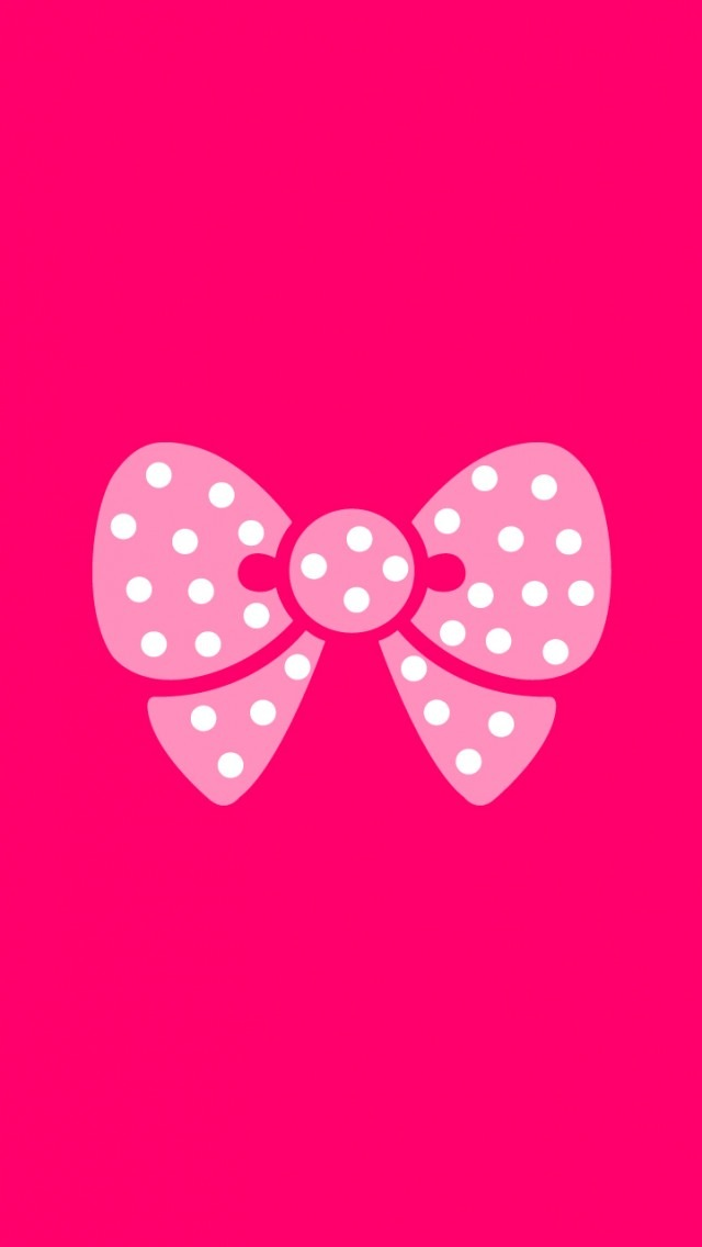 Pink Bow Wallpaper   iPhone Wallpapers 640x1136