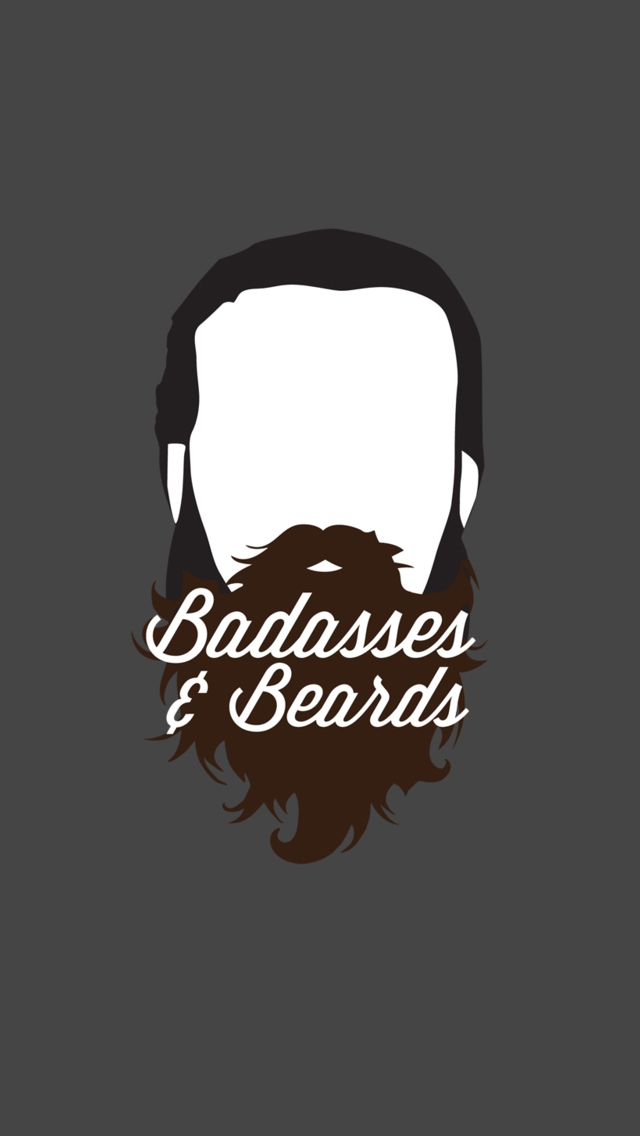 Badasses And Beards   The iPhone Wallpapers 640x1136