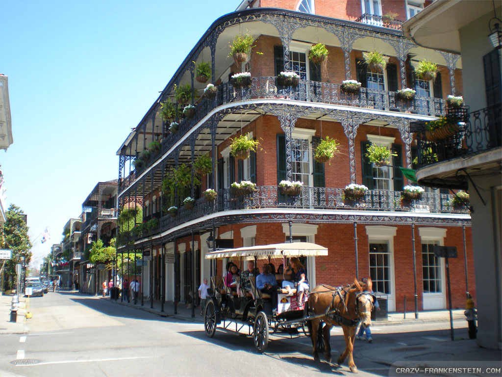 download Wallpaper French quarter New Orleans wallpapers 1024x768