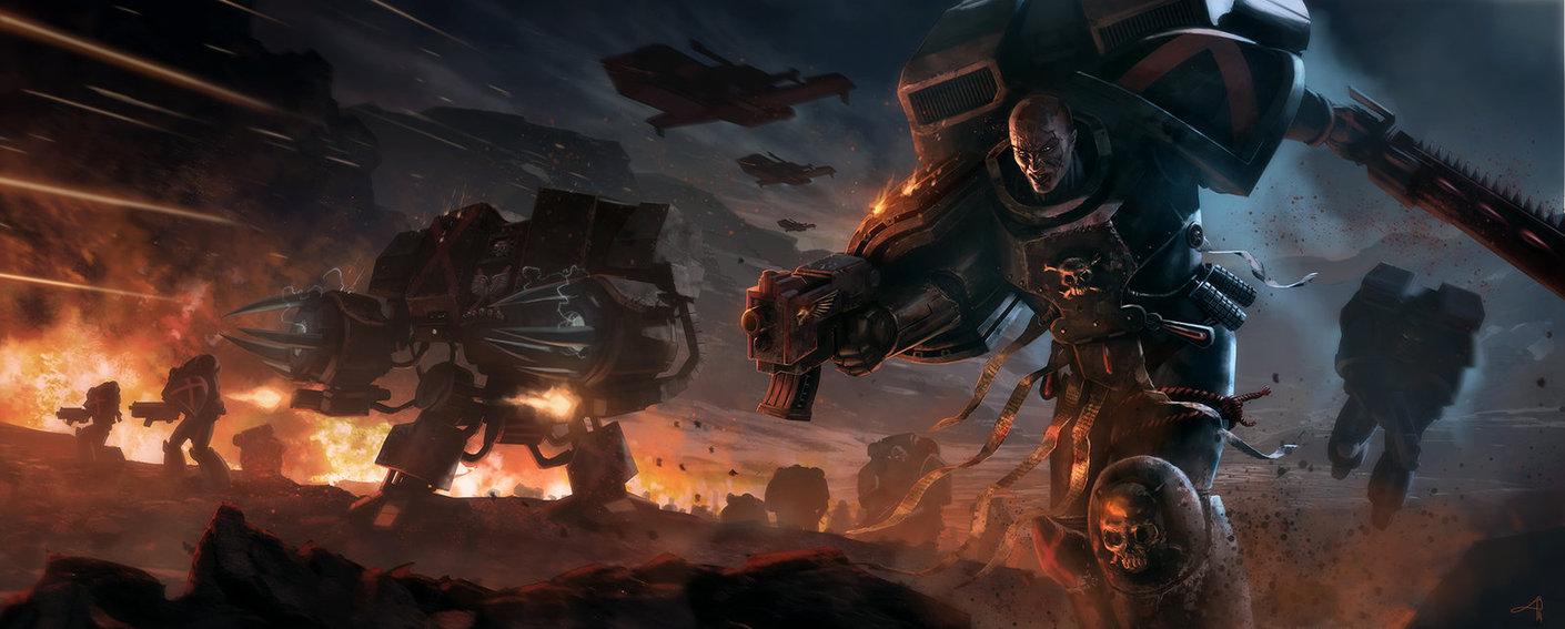 Warhammer 40k Death Company Blood Angels Tribute by pierreloyvet on 1410x567