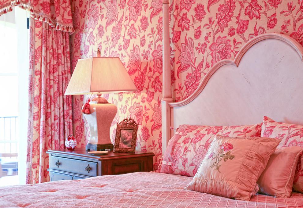 Pink Wallpaper For Girls Room 1 color 1 room 990x682