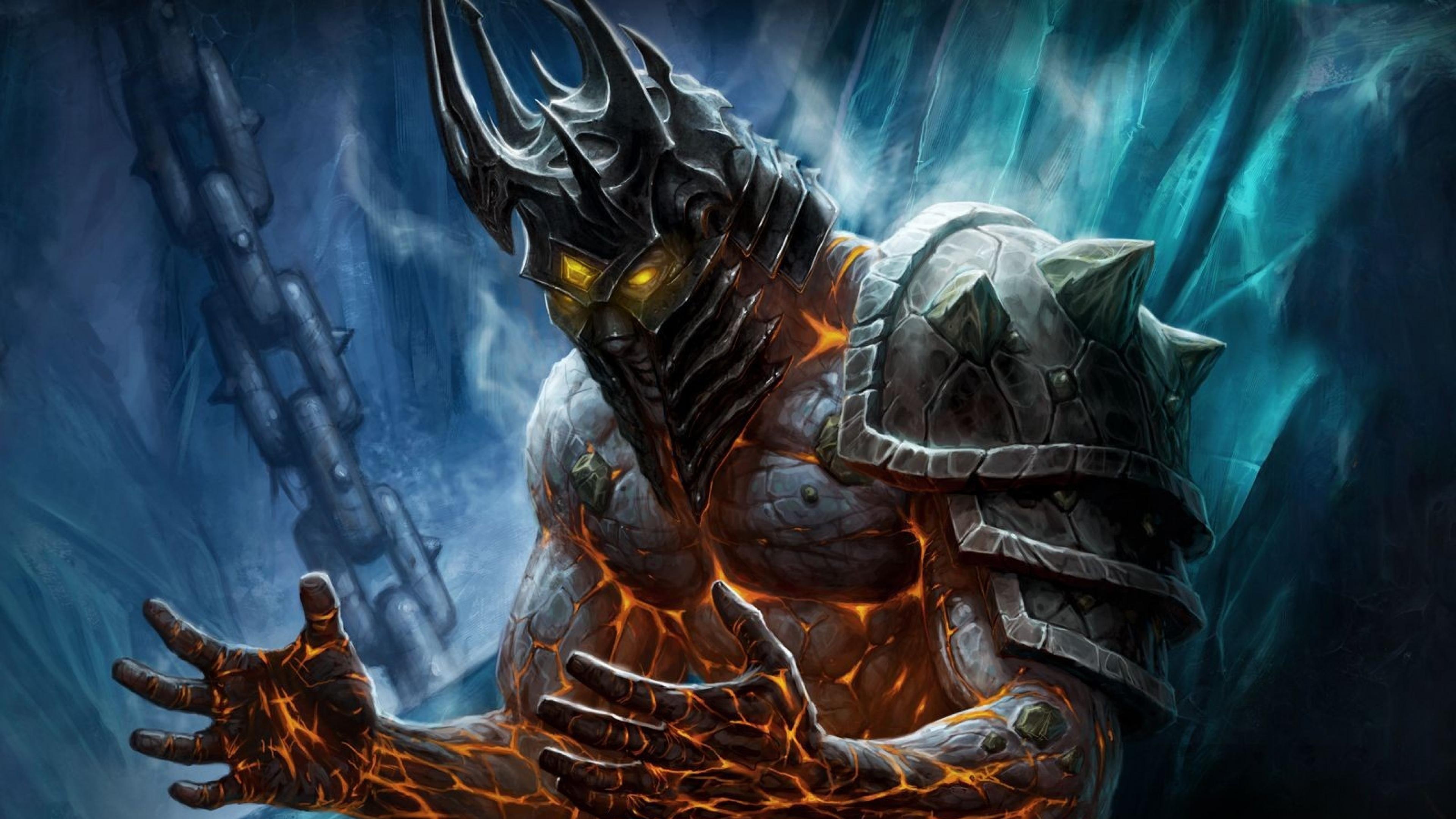 Wallpaper 3840x2160 world of warcraft monster hands armor 4K 3840x2160