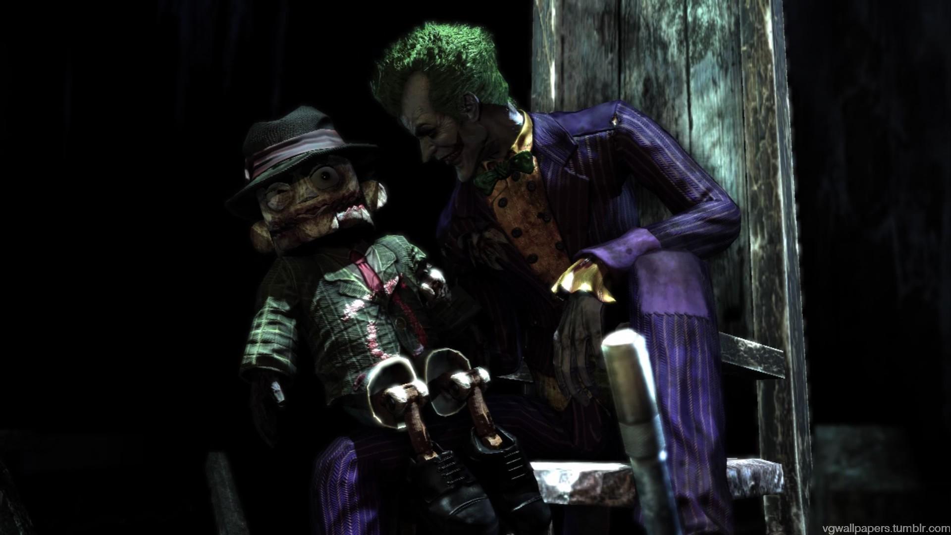 The Joker   a screenshot from The Batman Arkham AsylumClick image for 1920x1080
