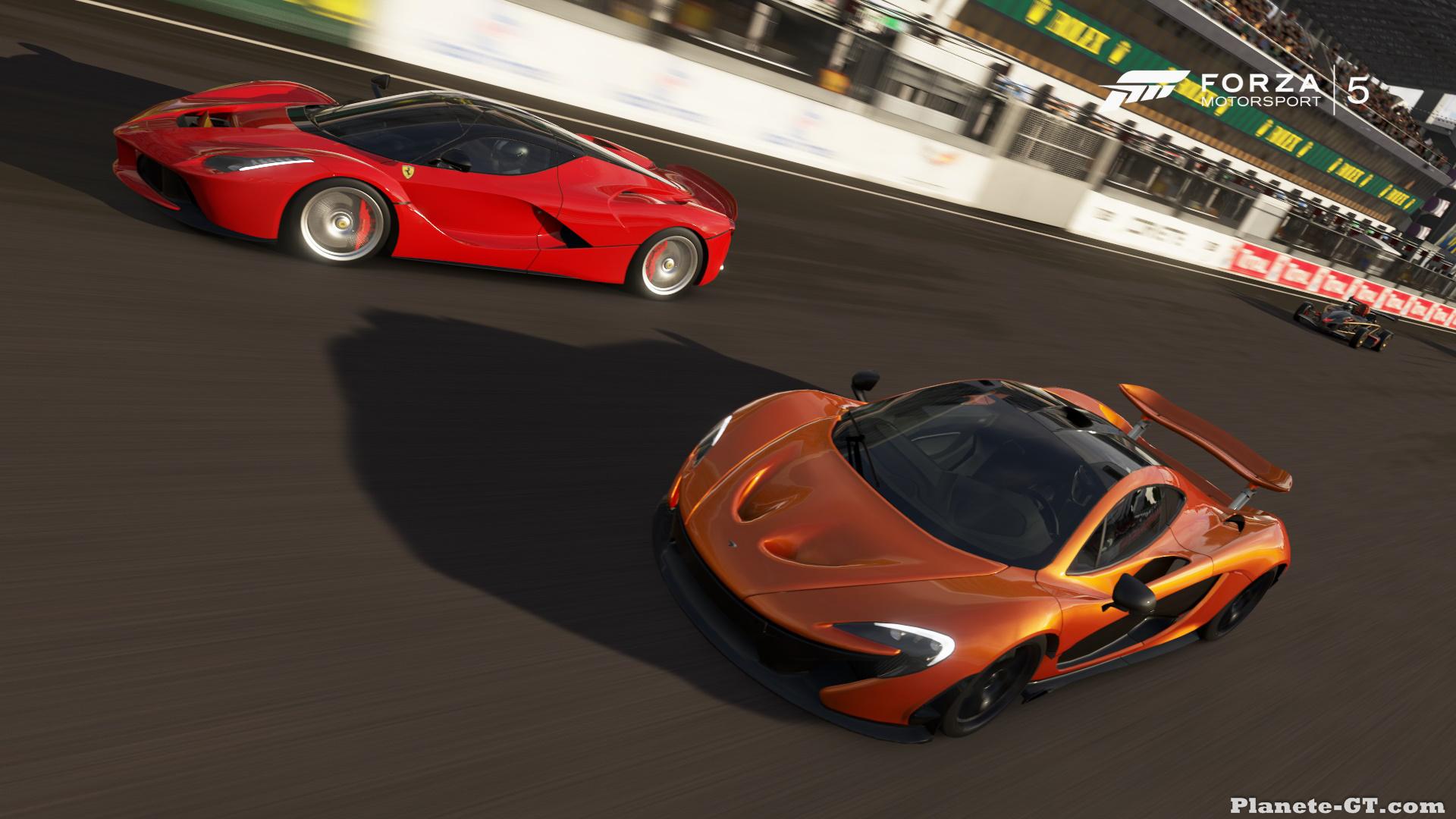 Forza 5   LaFerrari vs  P1 wallpaper background 1920x1080