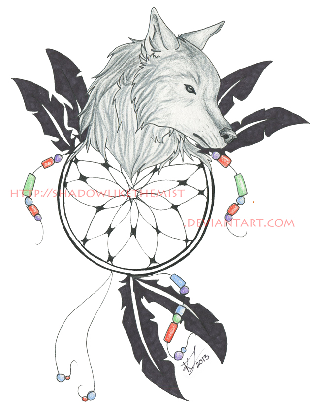 Free Download Wolf Dreamcatcher Tattoo By Jethero13 642x836 For