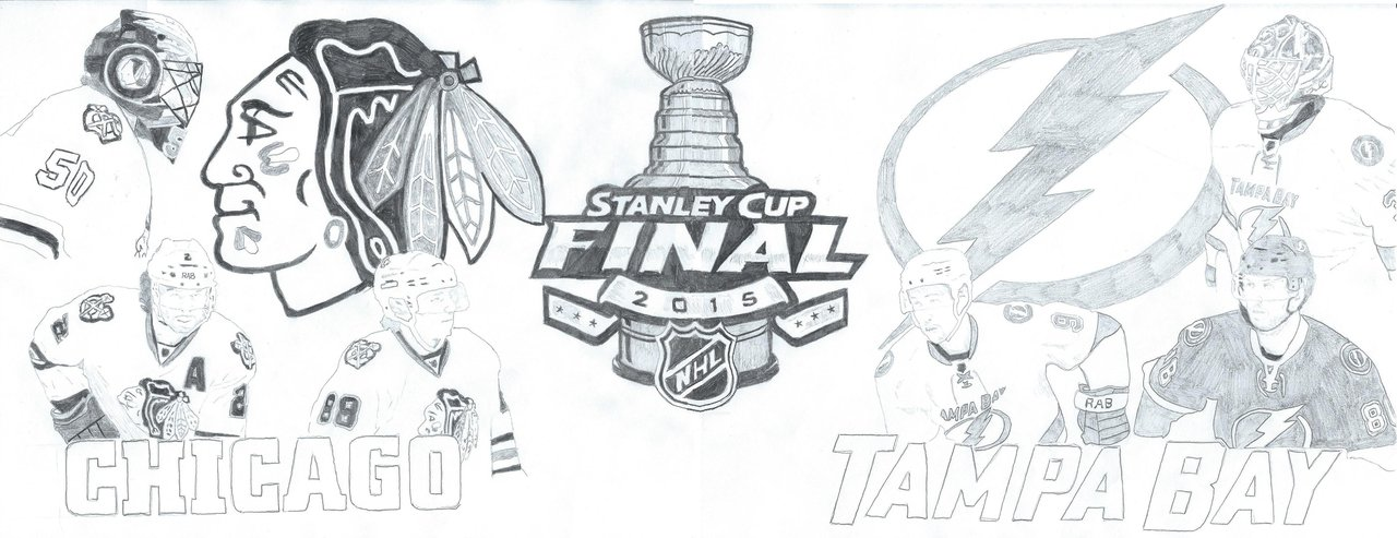 2015 Stanley Cup Finals Blackhawks Vs Lightning by unBAILEYvable on 1280x493
