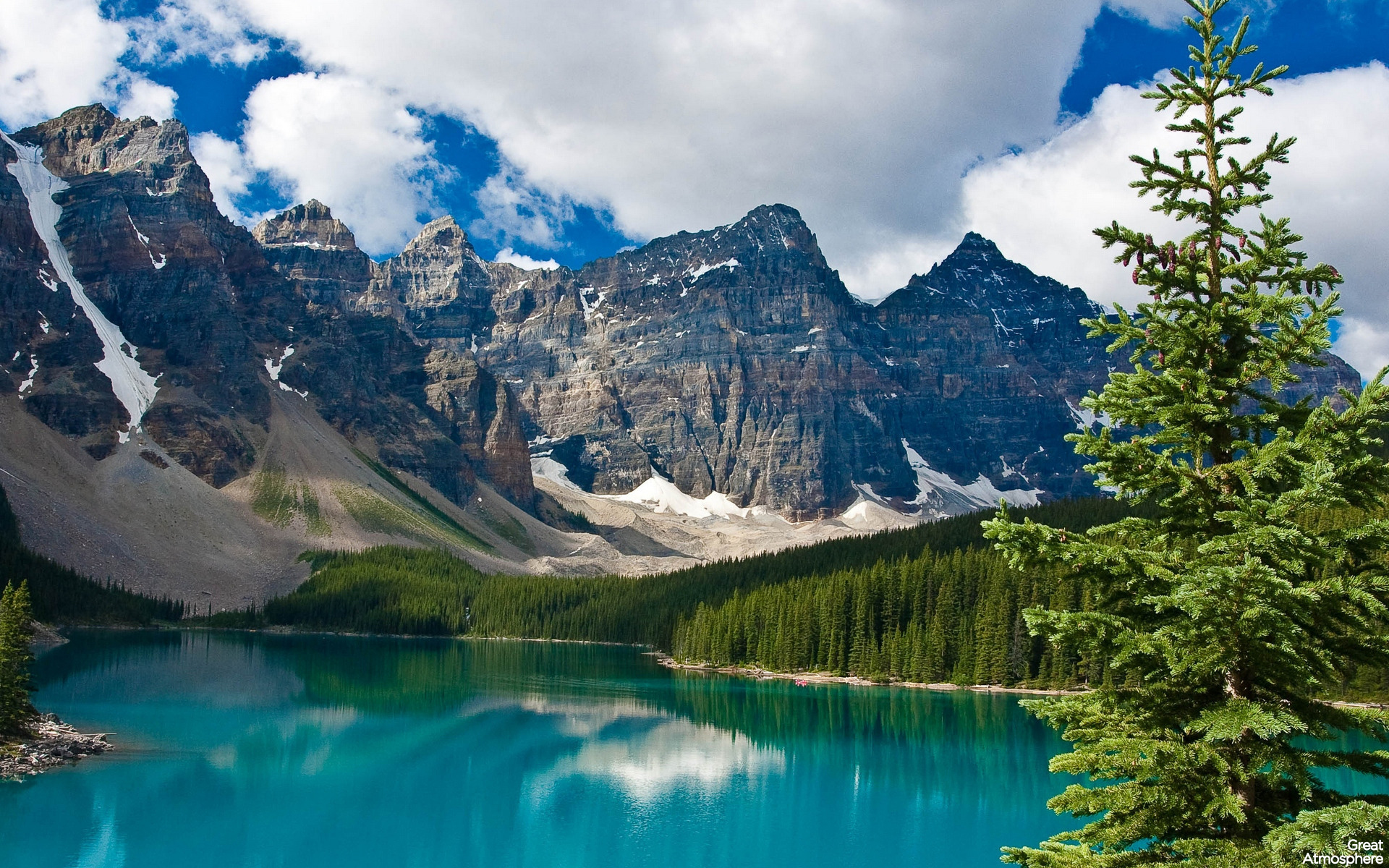 Atmosphere Nature Jasper National Park Alberta Canada 1920x1200