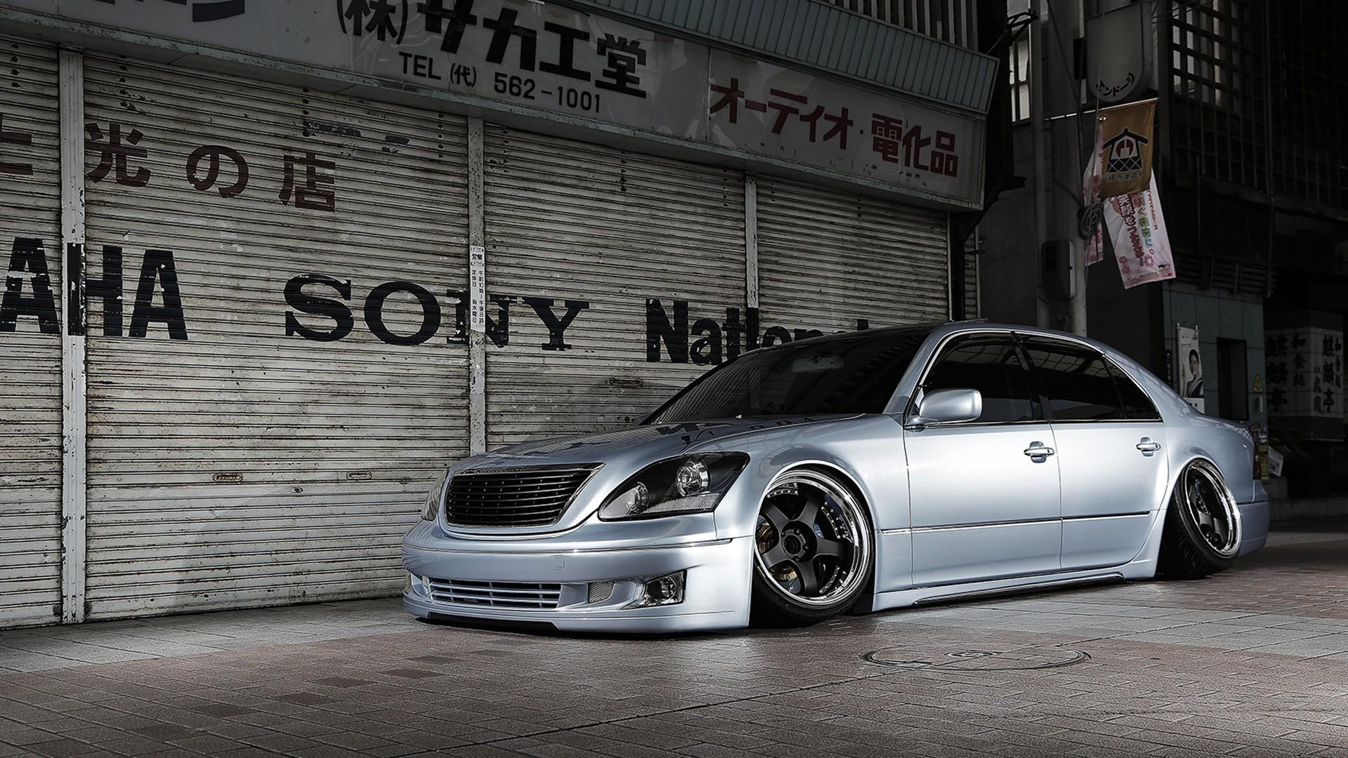 Japan cars lexus slammed toyota celsior camber wallpaper 67533 1920x1080
