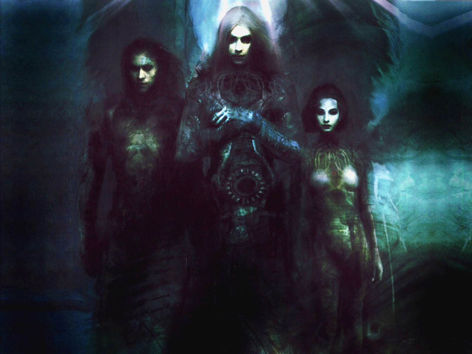Dark Angel Ghosts gothic fantasy art dark horror occult 1600x1200
