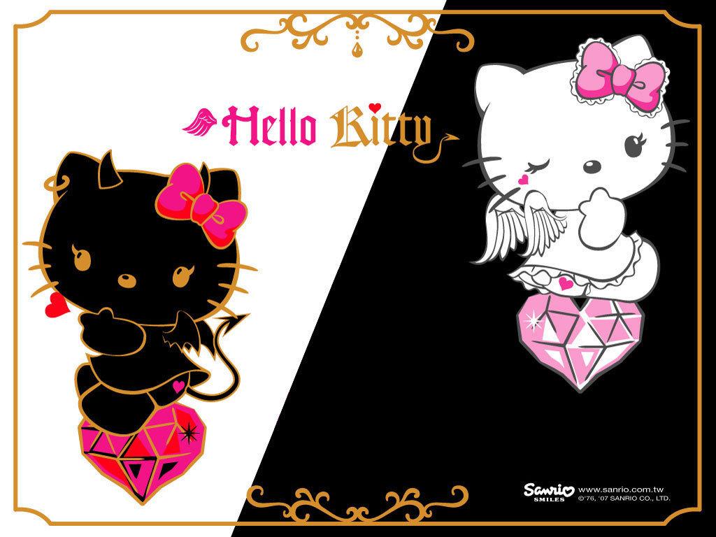1024x768px Hello Kitty Wallpaper Black Wallpapersafari