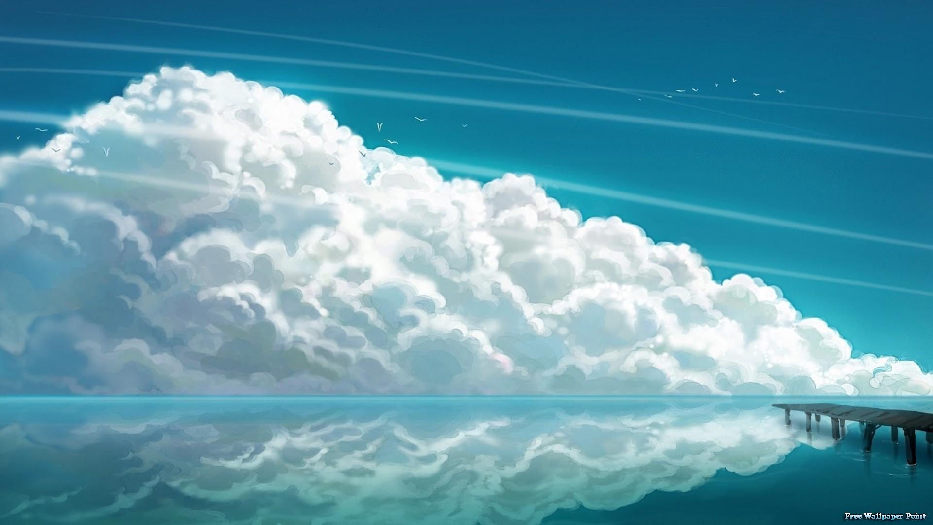 3D Horizon Clouds Wallpaper   MixHD wallpapers 1920x1080