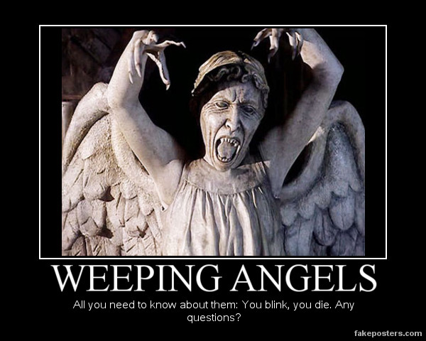 Weeping Angel Wallpaper Prank