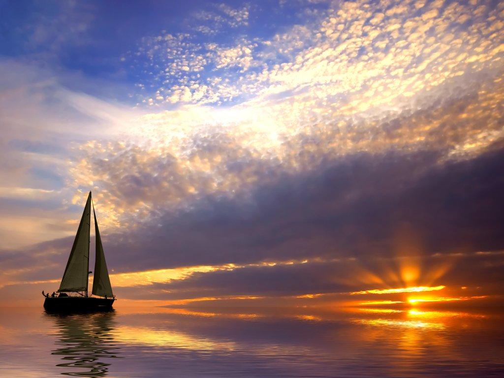 Sunset Sailing Wallpaper   Nature Wallpaper 1024x768