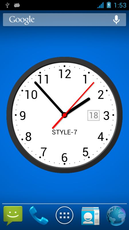 Analog Clock Live Wallpaper for Android   Download Live Wallpaper 450x800