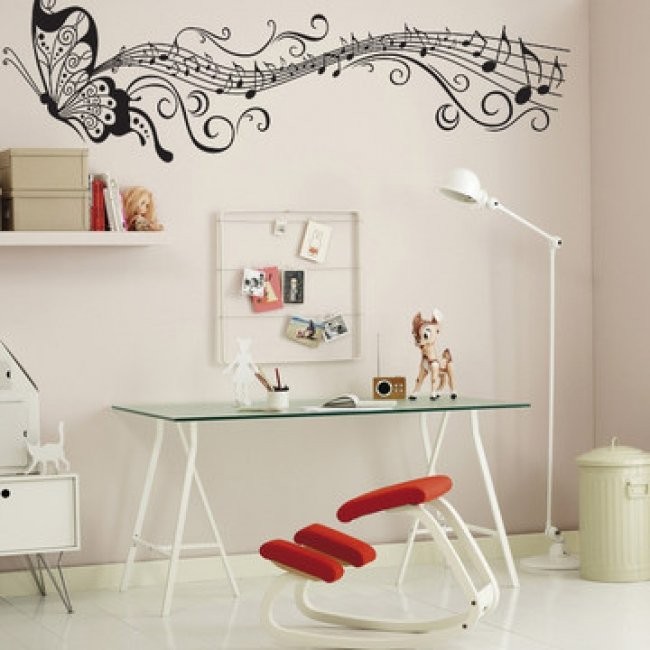 All matching Removable Wallpaper Wall Stickers with Musical Note 650x650