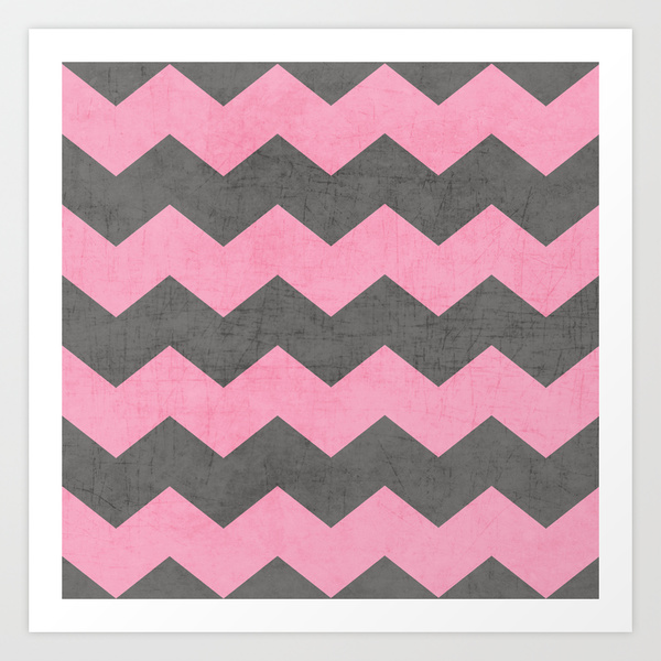 Pink And Gray Chevron Chevron - pink and gray