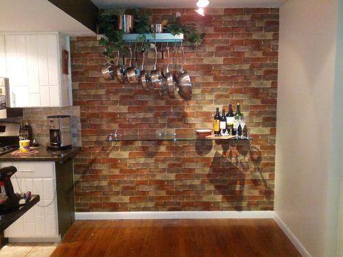 Graceful Faux Brick Paneling 229151 Home Design Ideas 500x375