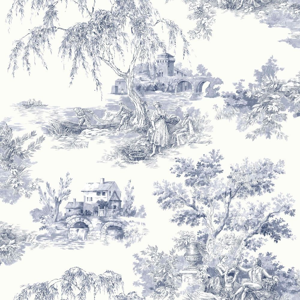 922060   Toile de Jouy   Provencale Countryside   Ideco Wallpaper 1000x1000