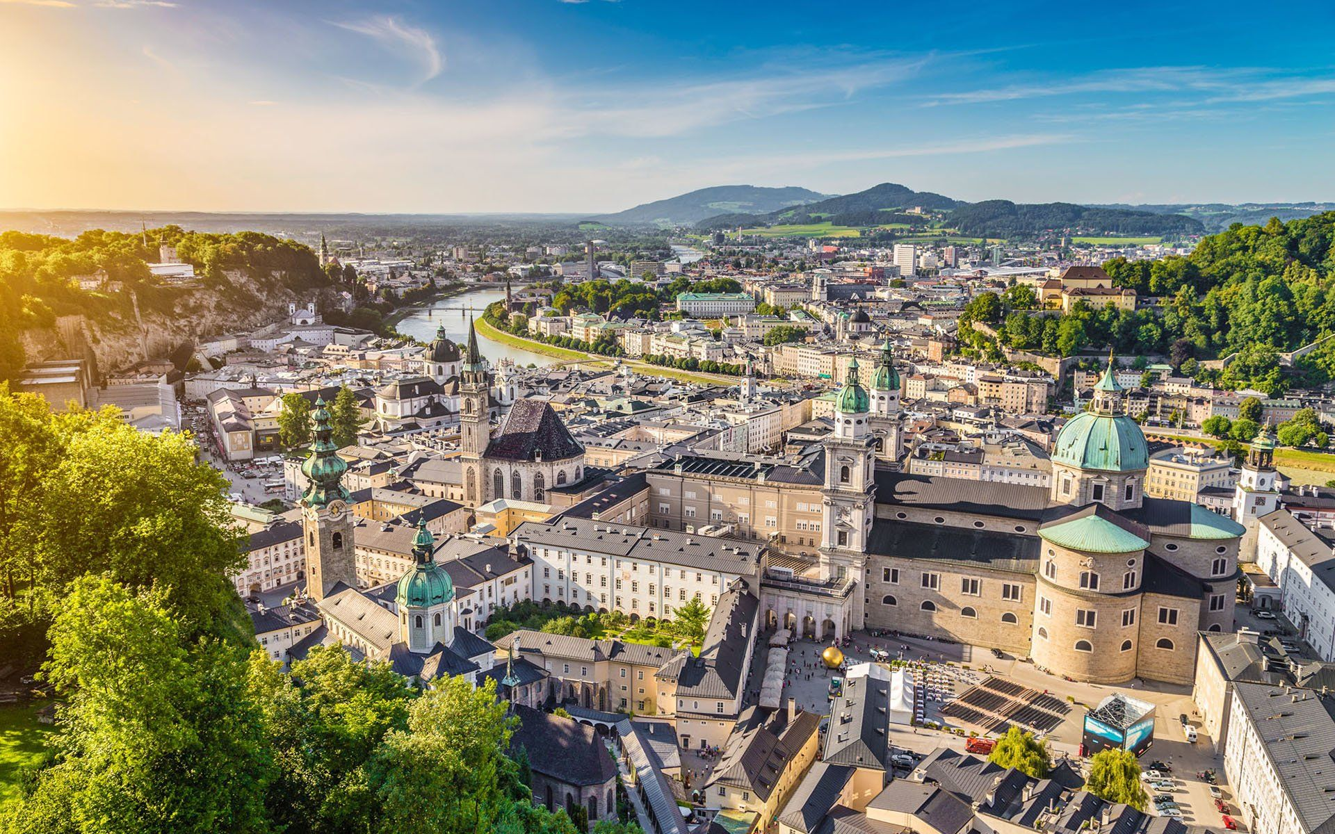 Man Made Salzburg Austria Europe City Wallpaper Travel Inspiration 1920x1200