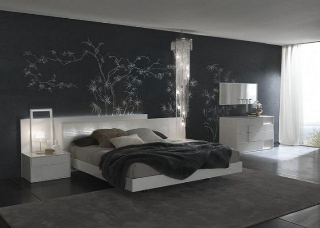Ideas For Men With Wallpaper And Unique Table Lamps Interior Design 630x450