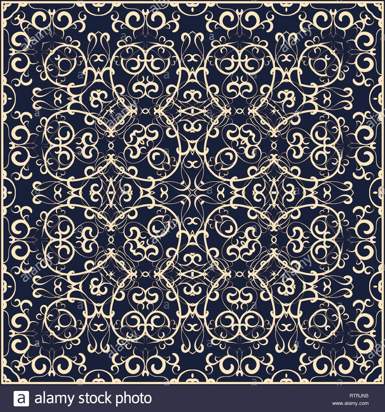 Square pattern on a blue background Decorative ornament to the 1300x1390