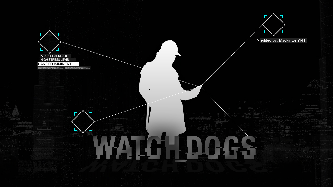 watch dogs fox logo iphone wallpaper images