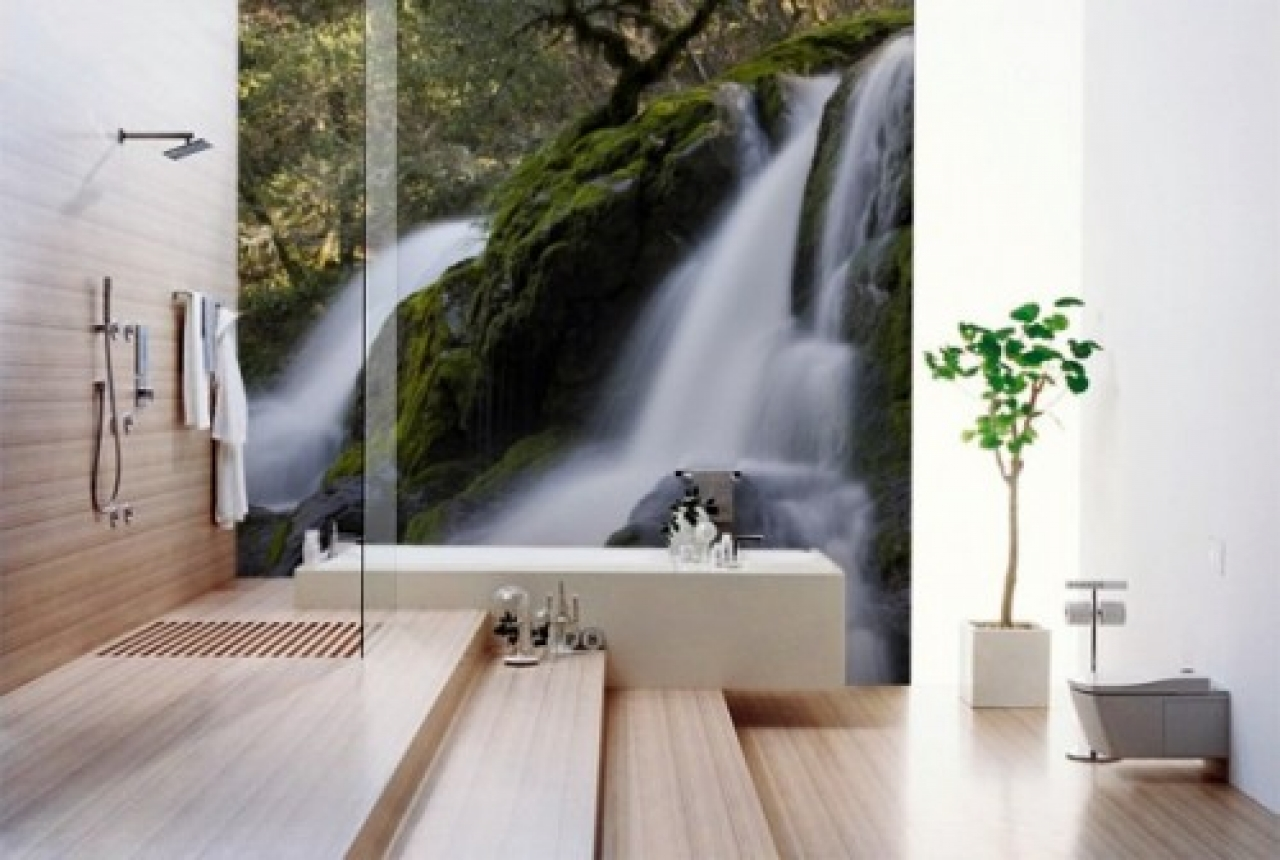 Modern bathroom wallpaper designs 1280x860
