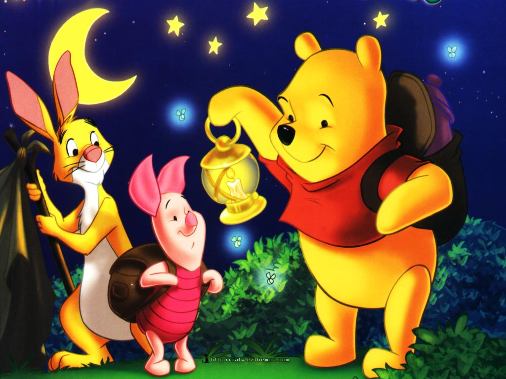 Winnie the Pooh Disney Desktop Wallpaper 1024x768